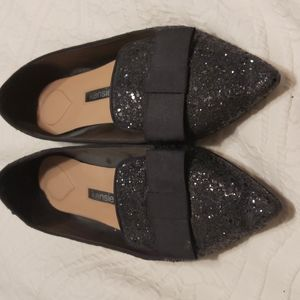 Kensie black sparkle shoes
